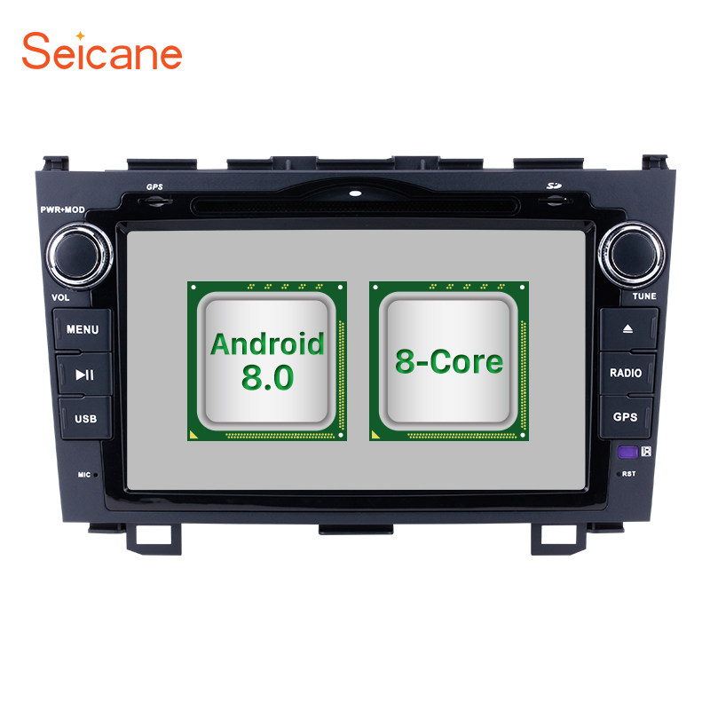 Seicane Android 8.0 8inch 2Din Car GPS Radio Stereo Head Unit Wifi Multimedia Player For HONDA CRV 2006 2007 2008 2009 2010 2011 цена