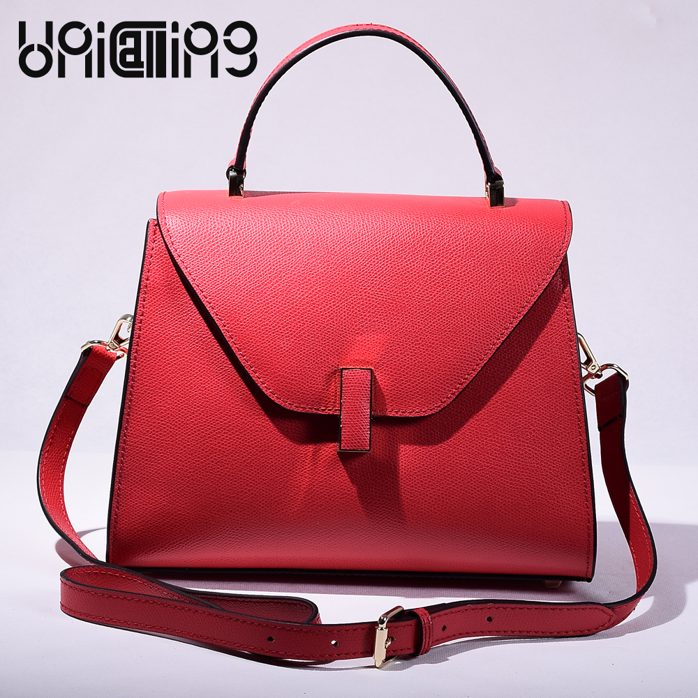 New style All-match Korean style cross pattern split leather women bag solid color crossbody bags for women mini shoulder bags punk style solid color and rivets design women s shoulder bag