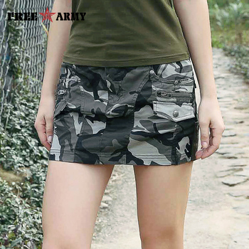 New Sexy Mini Skirts For Women Summer Style Mid Waist Micro Army Green Skirts Womens Pockets Camo Zipper Skirt Casual Gk-9511 roupas da moda masculina 2019