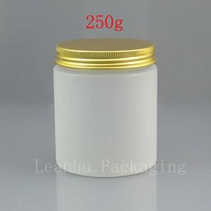 250 г x 20 пустая глазурь белая банка для крема для домашних животных, 250cc косметический пластиковый многоразовый контейнер, Золотая/белая/Розо...