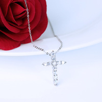 TYME Fashion Jewelry Silver Mini Pendant Cross Zircon Necklace Stylish Personality Gold Color Necklace Pendant For