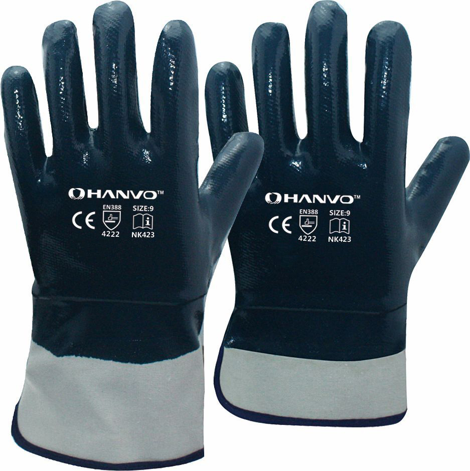 Oil and Gas Work Gloves Heavy Duty Cotton Jersey With Nitrile Coated Safety Glove evans b14hdd 14 genera heavy duty dry coated