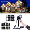 Outdoor Snowflake LED Stage Light Garden Snow Laser Projector For Christmas Party Decoration Landscape Lamp With
