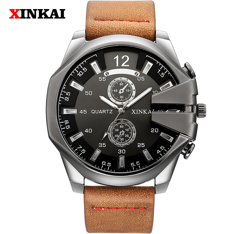 New Brand Fashion Luxury Watch Men Black Casual Leather Military Sport Watches For Men Waterproof Analog Men Watch New Brand Fashion Luxury Watch Men Black Casual Leather Military Sport Watches For Men Waterproof Analog Men Watch