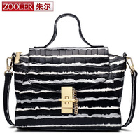 ZOOLER Latest Women Brand New Design Handbag Black And White Stripe Tote Bag Female Shoulder Bags