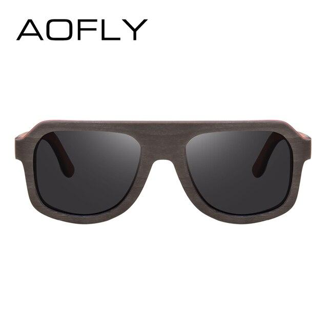 AOFLY BRAND DESIGN Men Sunglasses Bamboo Sunglasses Handmade Wooden Frame Polarized Mirror Lens Classic Gafas de sol UV400 AF618 2