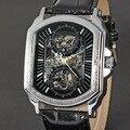 D46 Роскошные мужские автоматические часы & Механические Часы мужские Кожаные