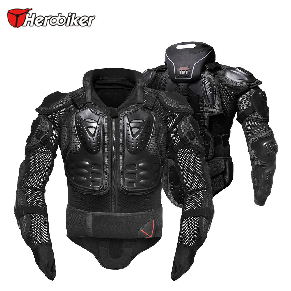 HEROBIKER Motorcycle Armor Protection Protective Gear Body Protector Jacket Motocross Motorbike Moto Jackets With Neck Protector cycling motorcycle protective armor jackets protection motocross clothing protector back armor protector racing full body jacket