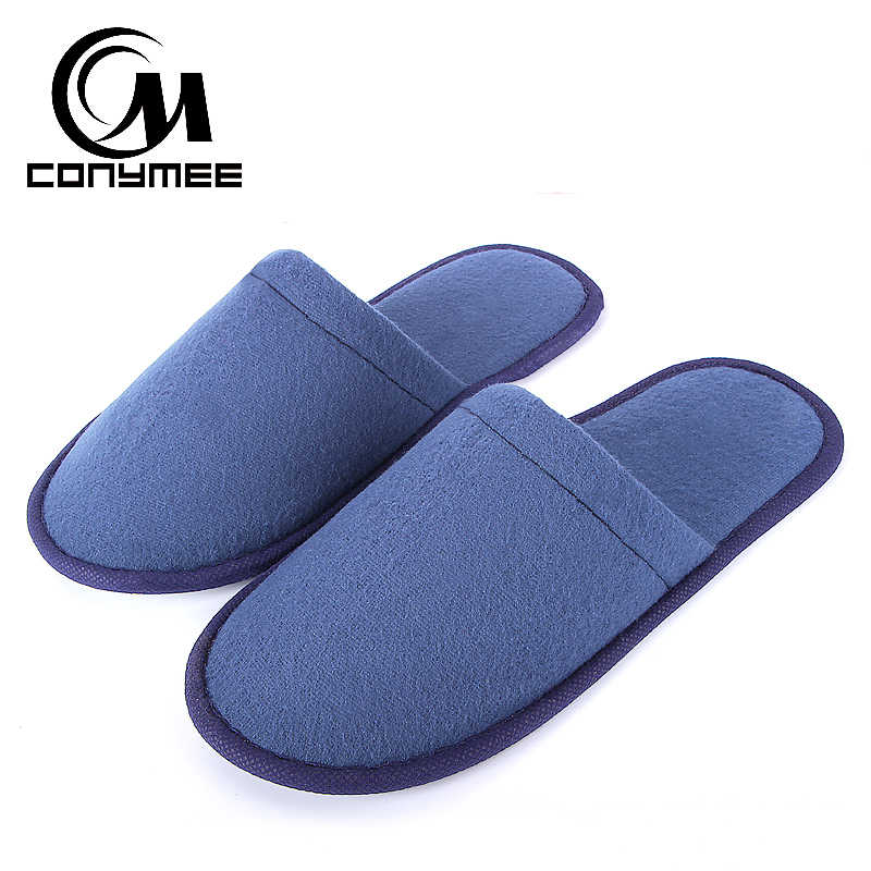 CONYMEE Hotel/Travel Slippers Men/Women Casual Sneaker Home Shoes Couple Disposable Hotel Supplies Indoor Floor Pantufas Slipper