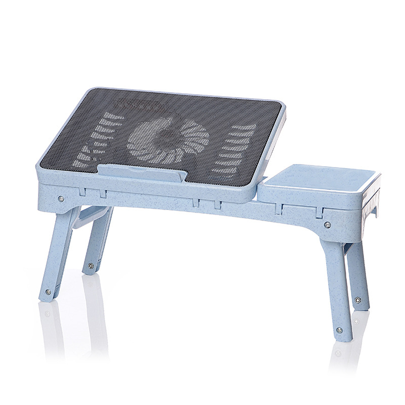 ,adjustable Folding Laptop Cooling Table Sofa Bed Office Stand Desk For 14/15.6 Inch Computer  Notebook With Mute Big Fan