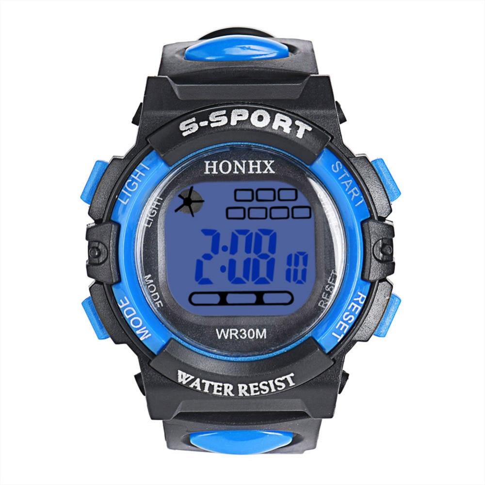 2018 New Brand LCD Watch 5 Colors Children Watch Stopwatch Kids Sports Digital Watch Kinderhorloge Dijital Saat
