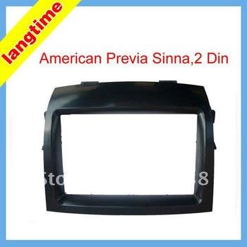 Free shipping-car refitting dvd frame/dvd panel/audio frame for American previa sinna,2 din