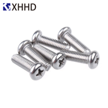 цена на 304 Stainless Steel Phillips Pan Head Machine Screw Metric Thread Cross Recessed Round Head Bolt Fastener Metal M4 M5
