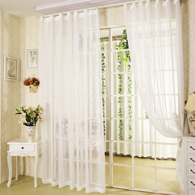 Hot White Sheer Curtains For Balcony Door Bay Windows The Finished Tulles Curtain Custom Can