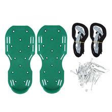 Оцинкованный железный садовый Двор Газон Аэратор обувь травяные аэрации почвы сандалии с шипами