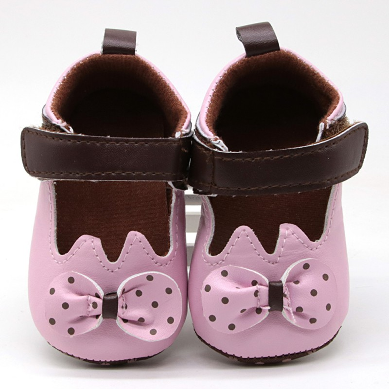Baby Walker Shoes Flower-Bow Little Girl Fabric Toddler Newborn Infant title=