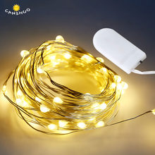 2M 20LED Starry String Button Battery Lights Fairy Micro LED Transparent Copper Wire Party Xmas Wedding 9 Colors Garland Lamps(China)