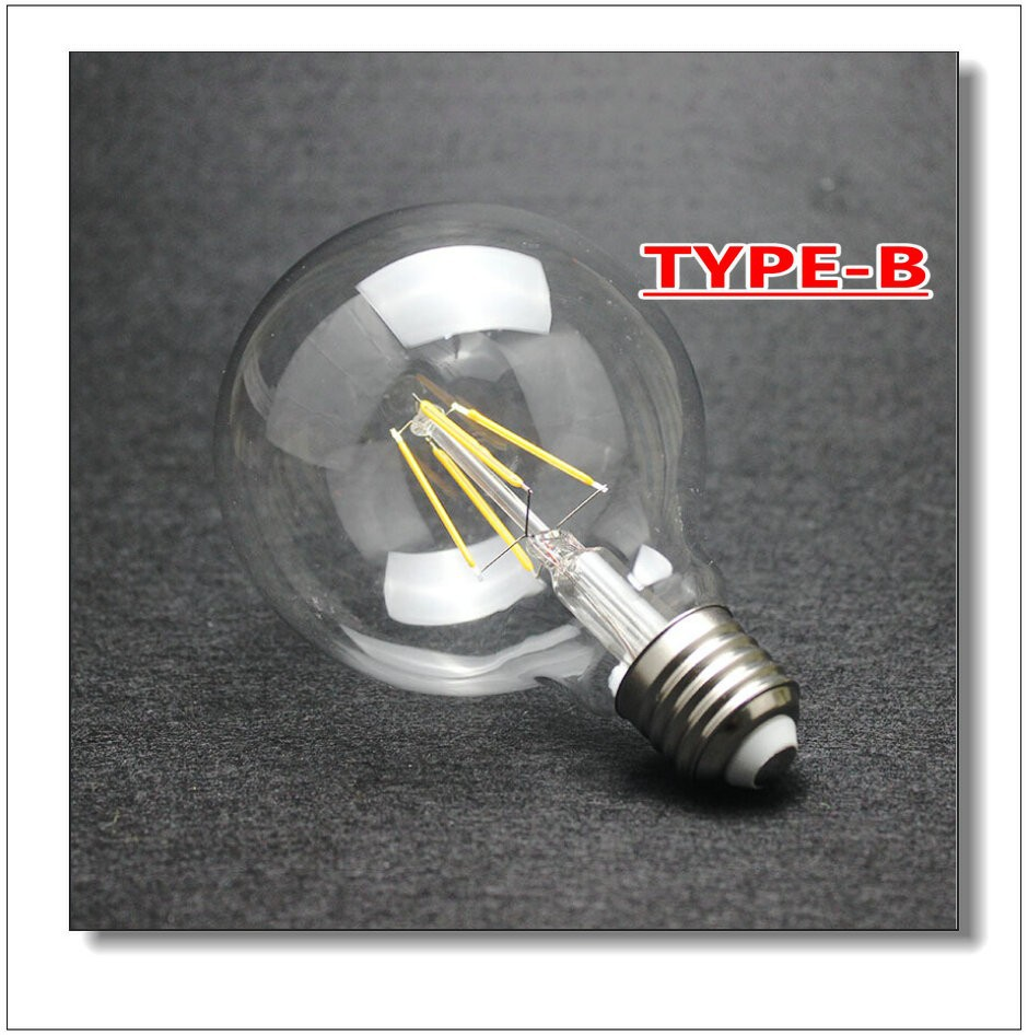 цены  Free Shipping Dimmable G125 4W/6W/8W Incandescent Vintage Bulb E27 Globe Retro Edison Light Bulb AC110V