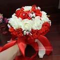 2016 Ручной Работы Романтические Свадебные Невесты Роуз Бисероплетение Искусственные Цветы Свадебные Букеты Ручной Работы Свадебные Букеты