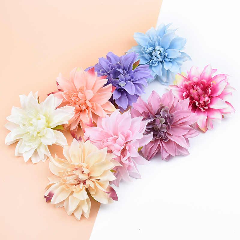 3/5/10 pçs 10 cm plantas artificiais flores decorativas gerbera de seda decoração de natal para casa casamento diy grinalda falso estame broche