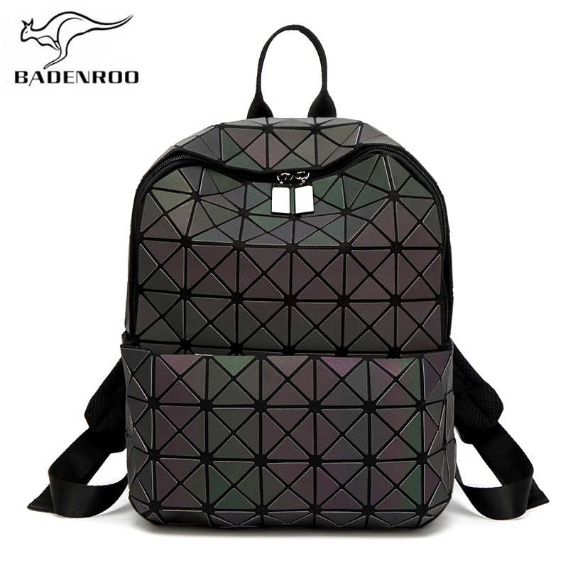 e3997ea39 Badenroo Women's Backpack Noctilucent Hologram Geometric Small Backpack  Sequins Female Leather School Backpack for Girls Mochila