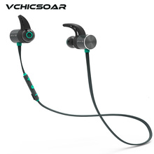 Фотография Vchicsoar BX343 Wireless Bluetooth Headphone IPX5 Waterproof Earbuds Magnetic Headset Earphones with Mic Double Battery Play 8 h