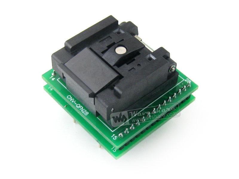 QFN28 TO DIP28 (C) QFN28 MLF28 MLP28 Plastronics QFN-28B-0.65-01 IC Test Socket Programming Adapter 0.65mm Pitch ломброзо ч гениальность и помешательство isbn 9789660349261