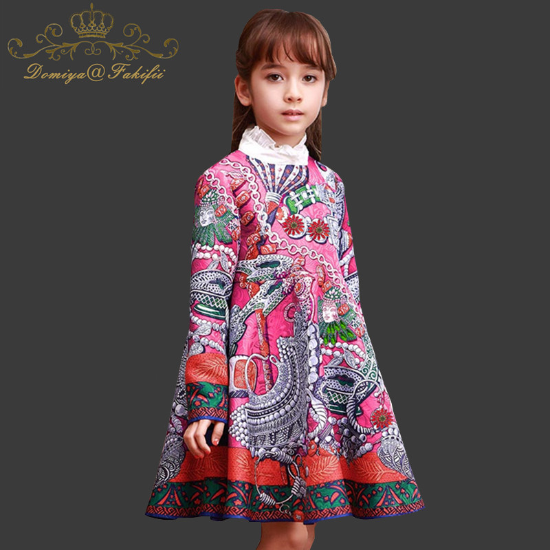 цены Baby Girls Dress Long Sleeve 2018 Brand Kids Winter Dresses for Girls Costume Princess Christmas Dress Flower Children Clothes