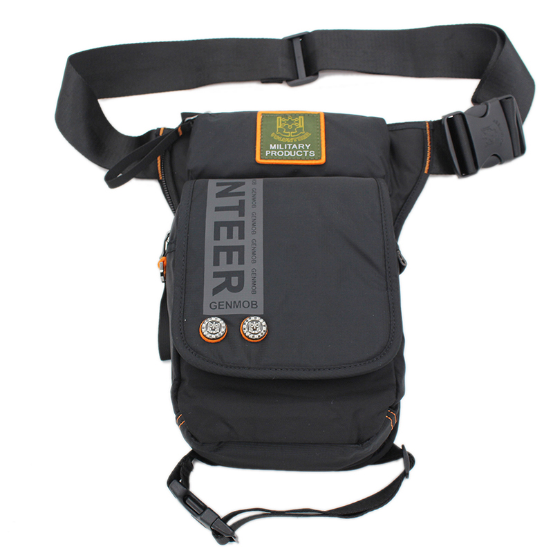 Men Military Oxford Leg Bag Fanny Waist Pack Belt Hip Bum Motorcycle Rider Drop Thigh Pouch Retro Crossbody Shoulder Bags