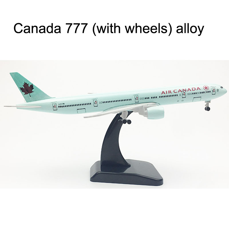 20CM AIR CANADA Boeing 777 Airplane Model Plane Model 16CM Alloy Metal Diecast  Aircraft Model Toy Plane Gift Dropshipping Store