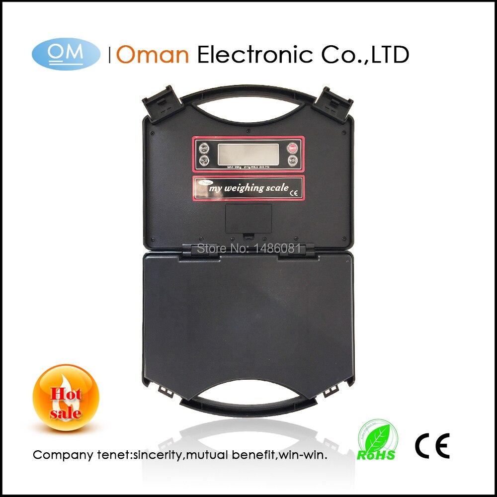 2016 년 고온 저울 T230 25kg / 1g 수화물 저울에 내장 된 전자 저울 검정색 무게 저울 무게 전자 장치