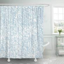 Shower Curtain Hooks Blue Denim White Jeans Gray Indigo Abstract Vintage Bright Canvas Color Cyan Decorative Bathroom(China)