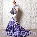 Lujo sirena Del Vestido de Noche Musulmán Dubai piso-longitud vestido Largo celebrity red carpet dress robe de soirée vestido de festa 2017