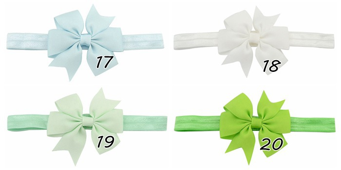 Hair Bow Headband Grosgrain Ribbon Bow Elastic Hair Bands Tie For Children Hair Accessories For Party Birthday Christmas Gifts