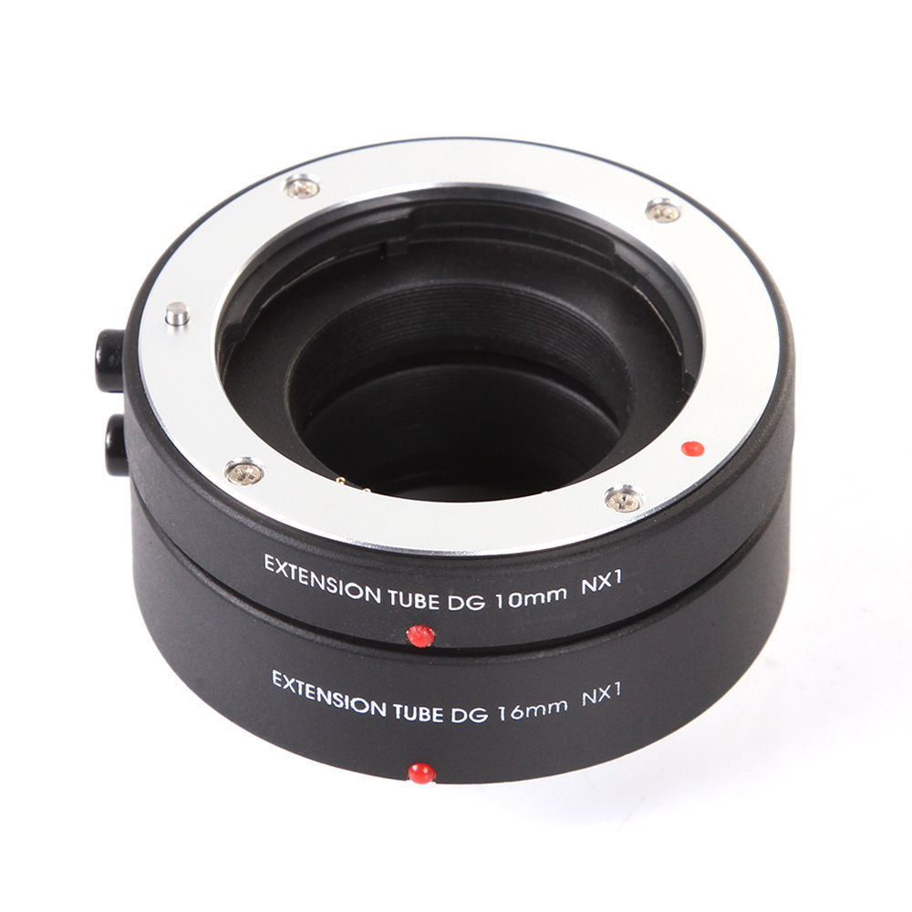 FOTGA Auto Focus AF Macro Extension Tube DG 10mm 16mm Set Samsung NX տեսախցիկի ոսպնյակների համար