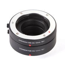 FOTGA Otomatik Odaklama AF Makro Uzatma Tüpü DG 10mm 16mm Için Samsung NX Montaj Kamera Lens