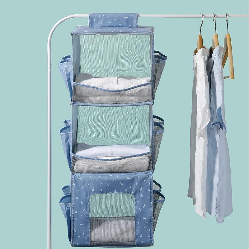 Hanging closet organizer large capacity cloth organizer home hanging storage folding wardrobe organiser household organization