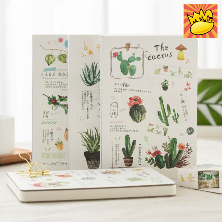 Green Plants Planner Diary Journal Grid Blank Lined Papers Study Notebook Sketchbook