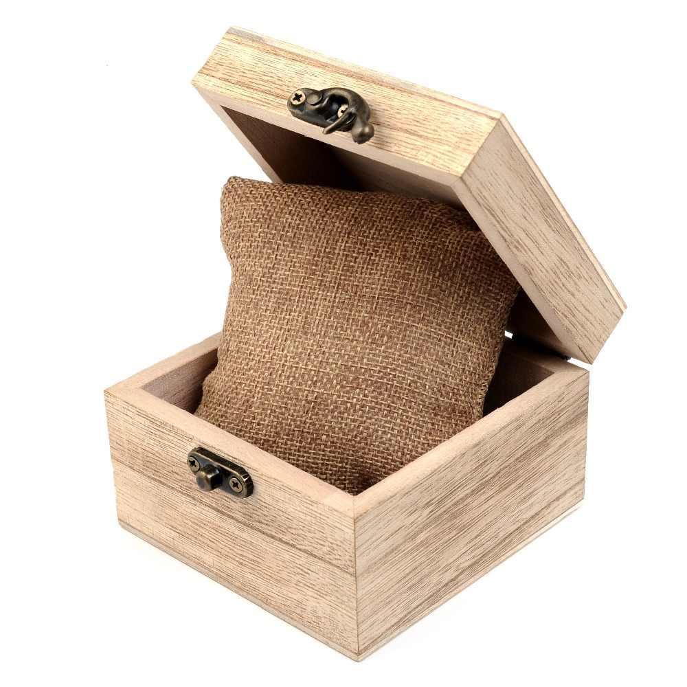 Caja de reloj BOBO BIRD, caja de madera cuadrada y redonda de bambú, caja de regalo de joyería, logotipo personalizado saat kutusu