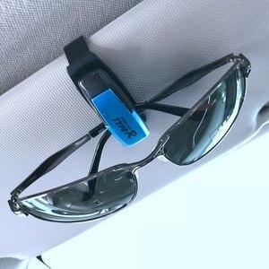 Случайный цвет держатель для очков Чехол держатель для очков авто солнцезащитный козырек зажим для солнцезащитных очков автомобильные акс...