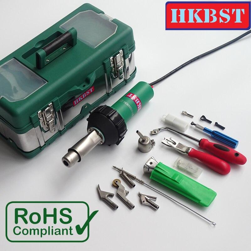 HKBST marque 1600 W Linoléum Ou Plancher En Vinyle Air Chaud De Soudage Kit Avec Pistolet Thermique En Plastique Et Accessoires