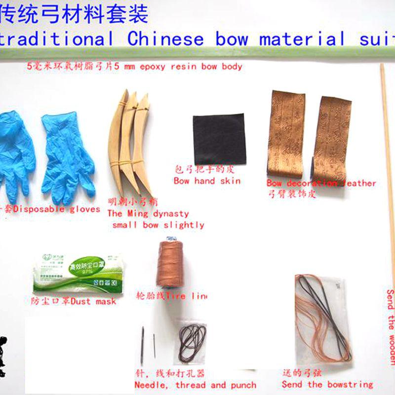 Membres 5 30*1150mm vert époxy arc pièce costume DIY matériau traditionnel Nécessaire os