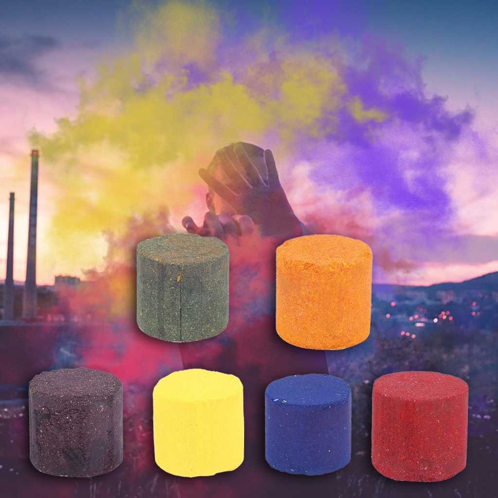 Colorful Smoke Cake Magic Tricks Photography Props Fart Spray Smoke