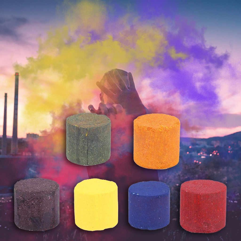 2/4 pcs Efeito Show de Fontes Do Partido Do Bolo de Fumaça Fumaça Colorida Redonda Bomba Dj Stage Fotografia De Aniversário Suprimentos de Natal ajuda