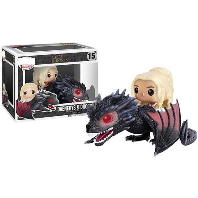 Funko Pop Nova Chegada Game of Thrones Daenerys Dragão Action Figure Collectible Modelo Brinquedos Para As Crianças Presentes de Natal Ano Novo