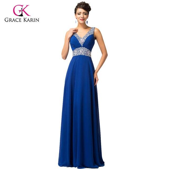 Online Shop Evening Dress Grace Karin Elegant Chiffon V-Neck 2018 ...