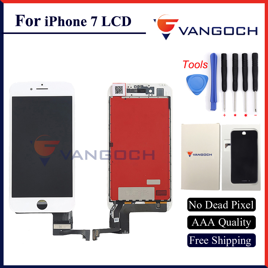 3pcs Free DHL AAA Quality No Dead Pixel Display for iPhone 7 LCD Replacement with 3D