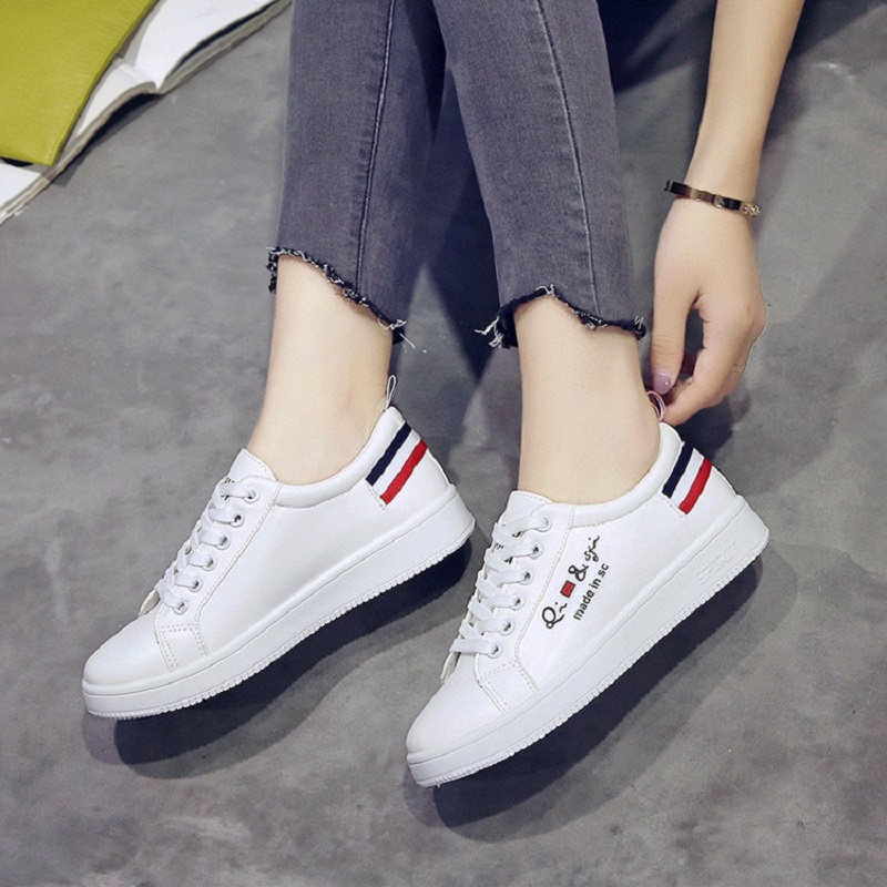 Chaussures Nouvelle Blanc Mode 1 Casual D'été 2018 Dames 2 Plates dYXwxIqxA