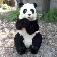 Моделирование панда полиэтилен и меха панда модель смешной подарок около 50 см x 32 см x 70 см