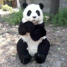 Simulation panda polyethylene&furs panda model funny gift about 50cmx32cmx70cm